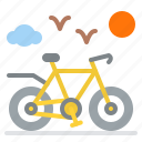 bicycle, relax, sport, weekend icon