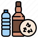 ecology, glass, plastic, recycling, reuse icon