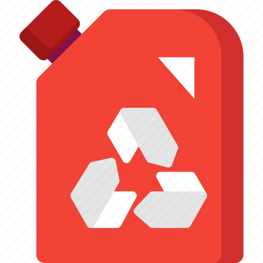 can, fuel, gas, gasoline, oil, recycle icon