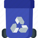 bin, dustbin, ecology, environment, recycle, recycling, trash icon