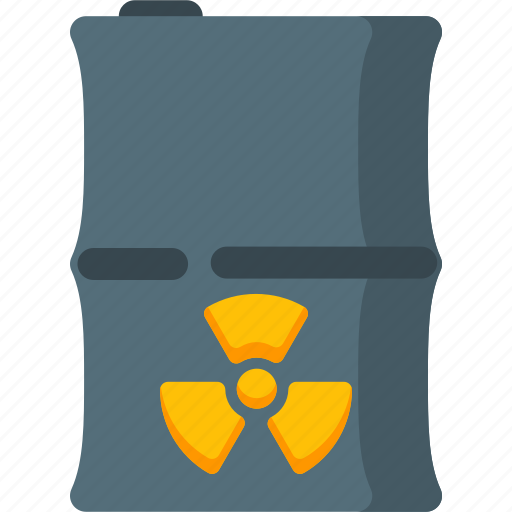 alert, bin, danger, delete, nuclear, radiation, waste icon