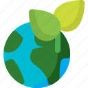 earth, global, globe, leaf, planet, plant, world icon