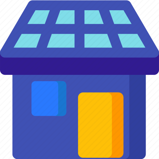 apartment, construction, furniture, house, property, solar icon
