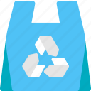 bag, paper, plastic, recycle, recycling, shop, shopping icon
