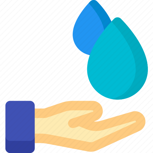 drop, eco, ecology, gesture, hand, water icon