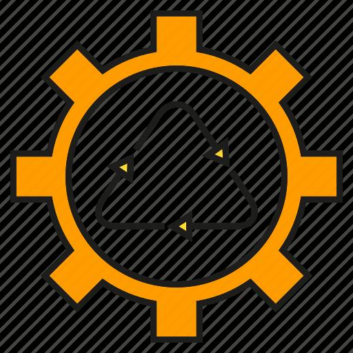 cog, gear, recycle icon