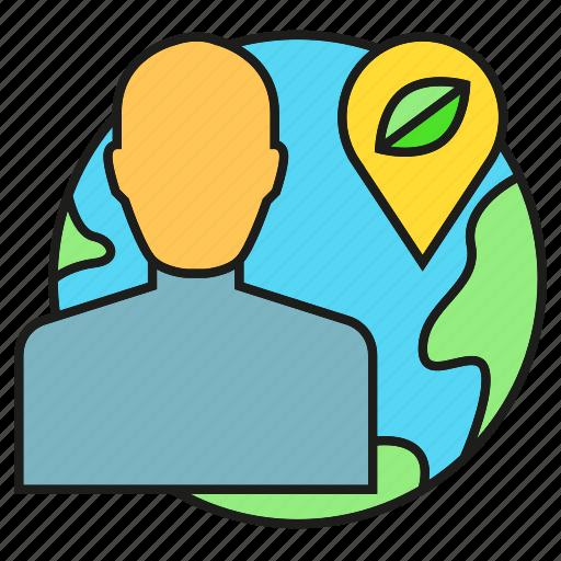 eco, ecology, environment, globe, leaf, people, world icon
