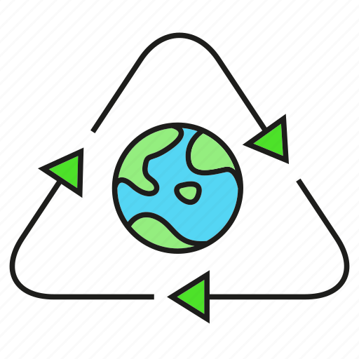 eco, ecology, environment, nature, recycle, save, world icon