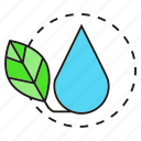 drop, eco, ecology, environment, leaf, nature, water icon