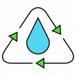drop, eco, ecology, environment, nature, recycle, water icon