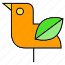 bird, eco, ecology, environment, leaf, nature icon