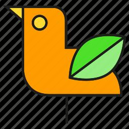 bird, eco, ecology, environment, leaf, nature icon