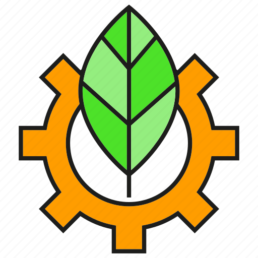 cog, eco, ecology, environment, gear, leaf, nature icon