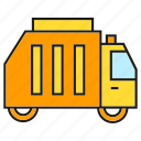 car, garbage truck, vehicle, waste icon