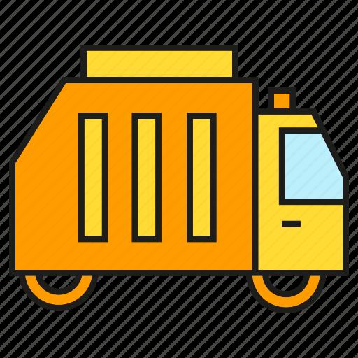 car, garbage truck, vehicle, waste icon