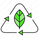 eco, ecology, environment, leaf, nature, recycle icon