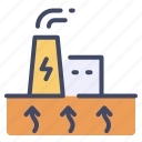 heat, ecology, electric, renewable, geothermal, electricity, energy icon