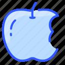 bitten, food, trash, fruit, apple, bite, waste icon