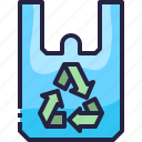 eco, recycled, recycle, bag, shopping, plastic icon