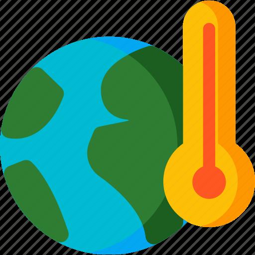 caution, earth, global, globe, temp, warming, world icon