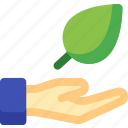 finger, hand, leaf, leave, nature, plant, touch icon