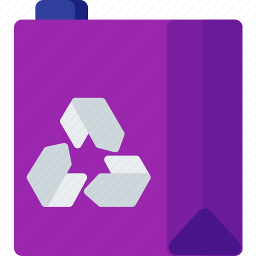 box, ecology, ecosystem, juice, pack, recycle icon