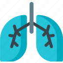 air, breath, breathe, ecology, lungs, organ, pollution icon
