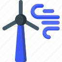 ecology, energy, environment, storm, turbine, wind, windy icon