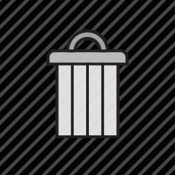 bin, eco, ecology, recycle, rubbish, trash, waste icon