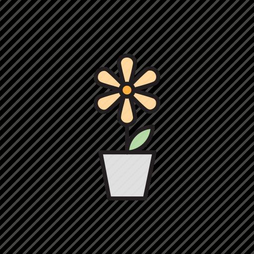 eco, ecology, flower, flower pot, nature, plant, vegetal icon
