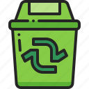 recycle, bin, trash, garbage, can, waste, rubbish