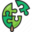 solution, puzzle, leaf, teamwork, jigsaws, eco