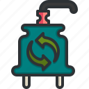 green, power, plug, connector, electricity