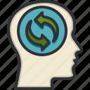 think, green, head, eco, friendly, ecology