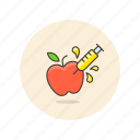 apple, ecology, genetic, gmo, modified, organism icon
