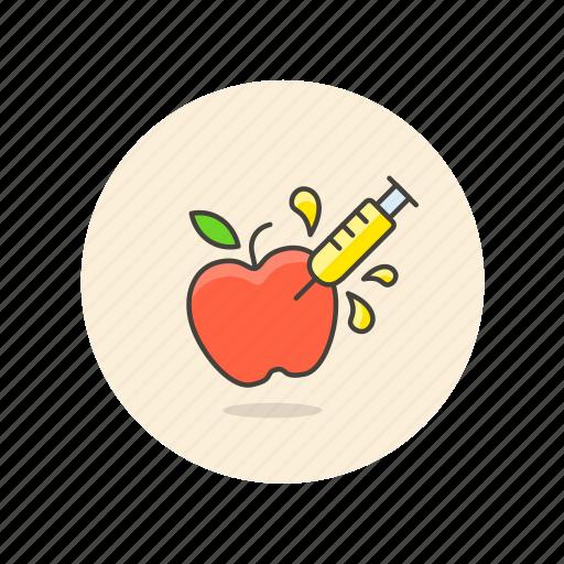apple, ecology, fruit, genetic, gmo, modified, organism icon