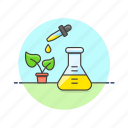 ecology, genetic, gmo, modified, organism, plant, sprout, test icon