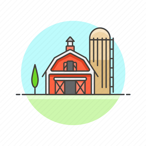 animal, barn, ecology, farm, food, hay, nature, tree icon