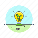 ecology, electricity, environment, green, leaf, nature, power icon