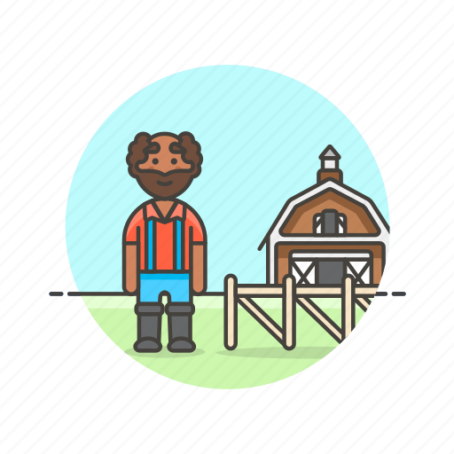 agriculture, animal, barn, ecology, farmer, man, nature icon