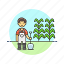 agriculture, dig, ecology, farmer, nature, seed, shovel, tree icon
