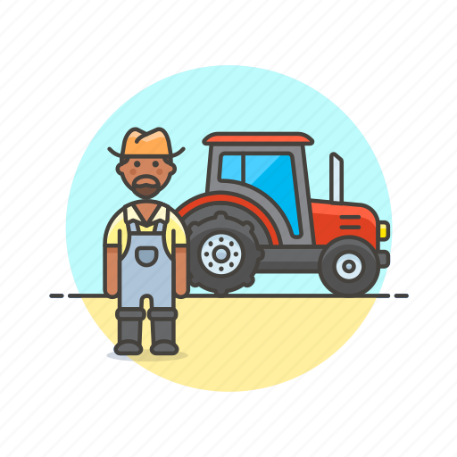 agriculture, ecology, farmer, field, man, nature, tractor, work icon