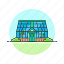 ecology, glasshouse, environment, nature, preserve, save icon