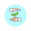 ecology, environment, gesture, grow, hand, nature, plant, sprout icon
