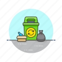 bin, can, ecology, environment, garbage, recycle, trash icon