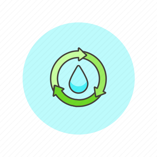 cycle, drop, ecology, environment, green, nature, reuse, water icon