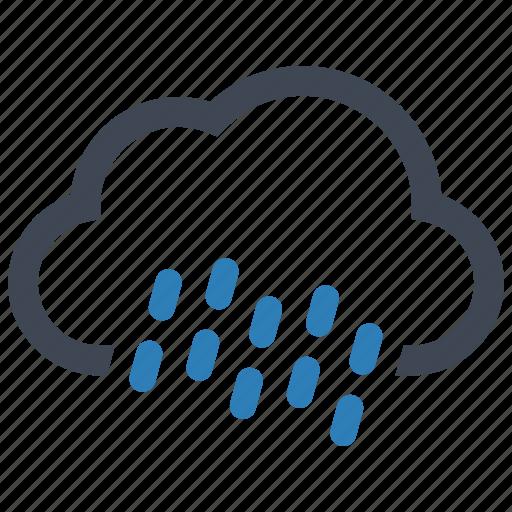 autumn, cloud, rain icon