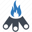 bon, camp, camping, fire icon
