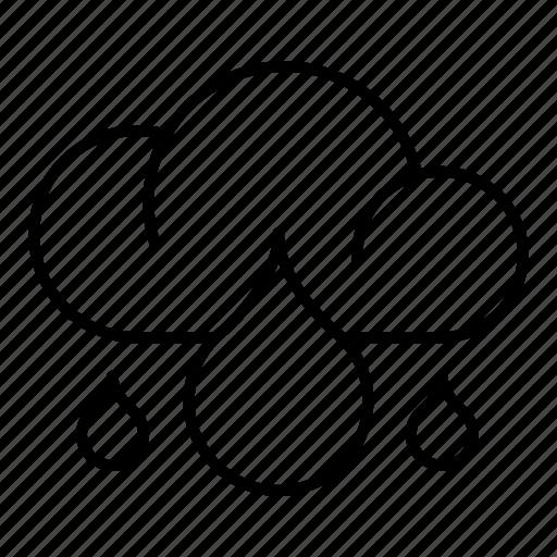 ecology, environment, rainy, weather icon