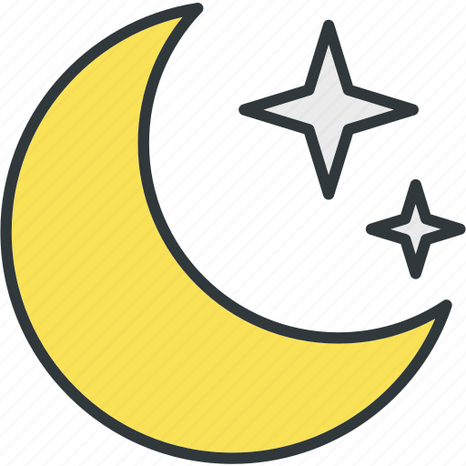 clear, moon, stars icon